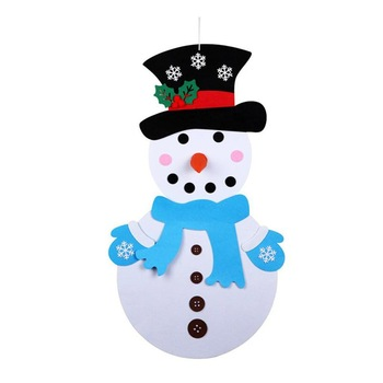 1 Juego de telas No tejidas de dibujos animados fieltro de mu eco de nieve para