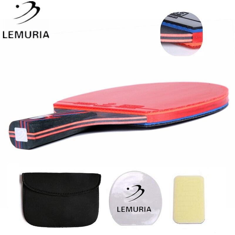 Lemuria Professionele Carbon Tafeltennis Racket Met Dubbele Gezicht Puistjes-In Tafeltennis Rubber Fl Cs Handvat Ping pong Bat