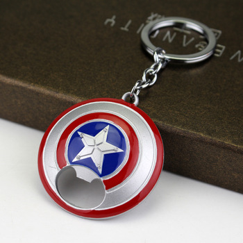 Captain America Shield Bottle Opener Keychain 6