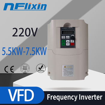 5.5KW VSD 220v to 380v Spindle Inverters VFD AC drive frequency converter Factory Direct Sales image