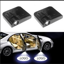 2pcs/pair Wireless Car Door Badge Lights LED Laser Ghost Welcome Light Logo No Drill Type Shadow Projector Lamp for Volkswagen цена