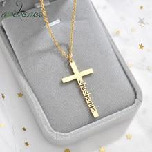 Nextvance – collier croix personnalisé en acier inoxydable, pendentif personnalisé, amulette, collier religieux chrétien pour femmes, cadeau d'anniversaire