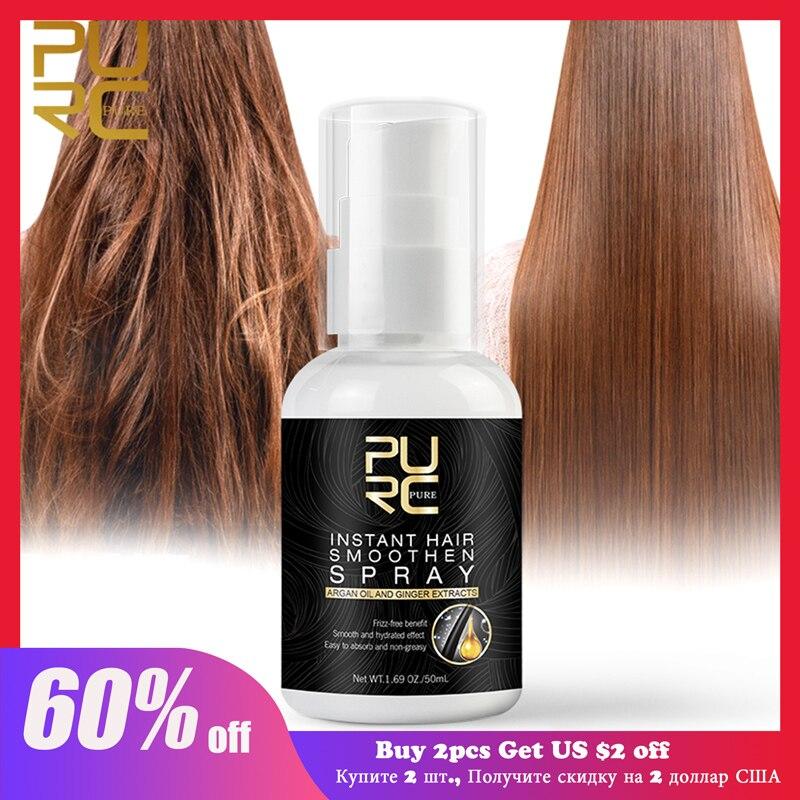 PURC aceite de argán Marroquí para el cuidado del cabello, Spray suave para evitar la pérdida de cabello, reparación dañada, mejora el cuero cabelludo seco, cuidado del cabello para mujer, 50ml|Tratamientos de cuero cabelludo y cabello| - AliExpress