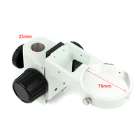 Tamanho da coluna 25mm/32mm microscópio ajustável focagem suporte diâmetro 76mm trinocular binocular microscópio estéreo suporte componente|Peças e acessórios p/ microscópio|   -