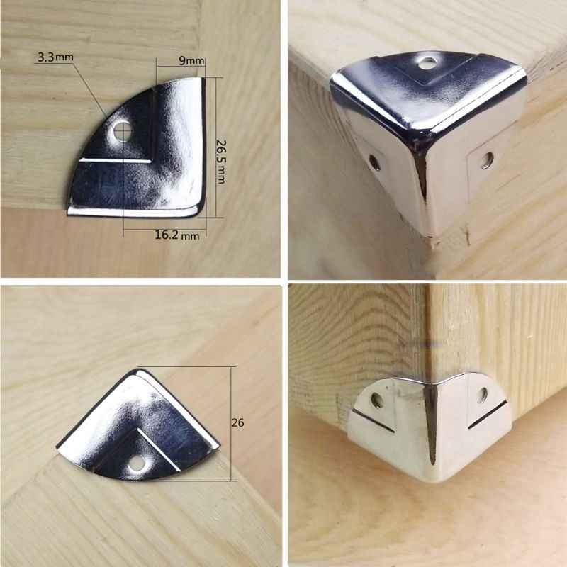 12 Uds armario plateado tronco esquina Protector muebles caja esquina decorativa
