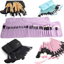 Vander Professionele 32 Stks/set Make-Up Borstel Foundation Oogschaduw Lipsticks Poeder Make Up Borstels Tool Bag Pincel Maquiagem Kit(China)
