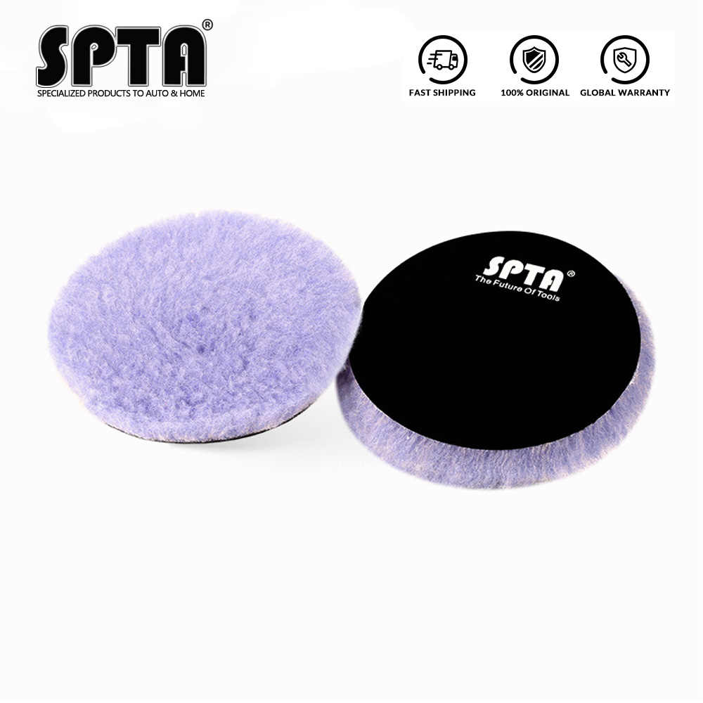 "SPTA 2 ""/3""/5 ""/6"" Lila Wolle Pad Hohe Dichte Lämmer Woll Polnischen polieren Pad Wolle Polieren Pad für Auto Detail Polieren"