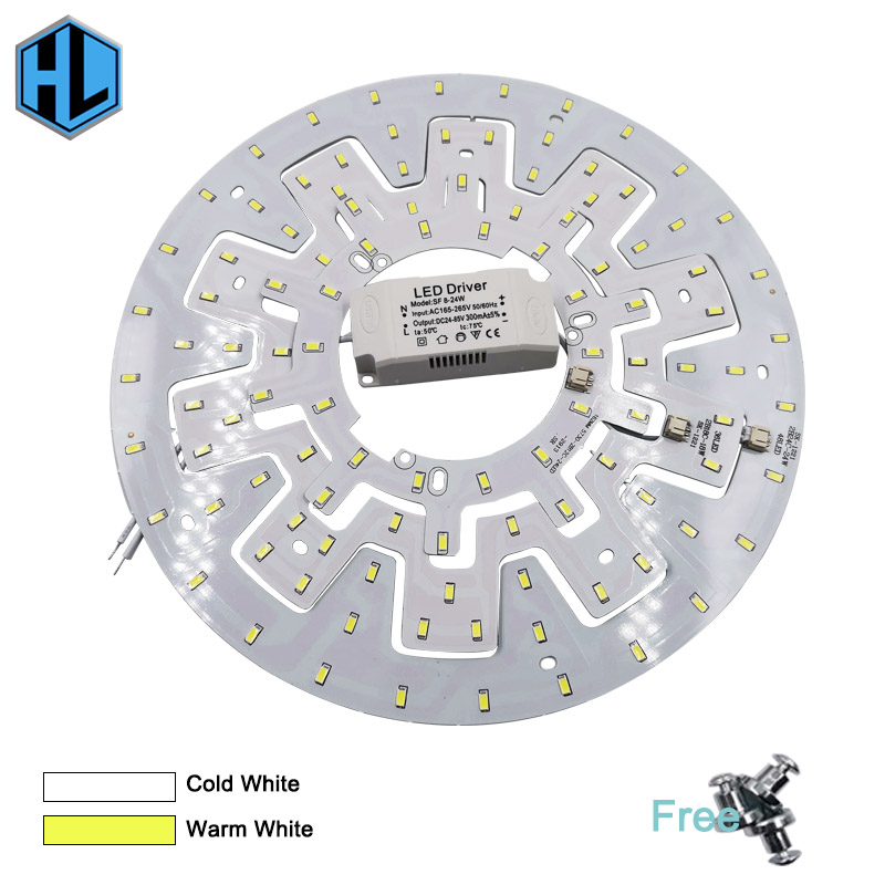 LED Celiling Light 12-24W Indoor Module Lights Source AC220V High Brightness Replace Home Lighting Retrofit Lamp Board