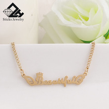 (1 Pieces / Lot)Beautiful Any Personalized Name Necklace Alloy Pendant Alison Font Fascinating Custom