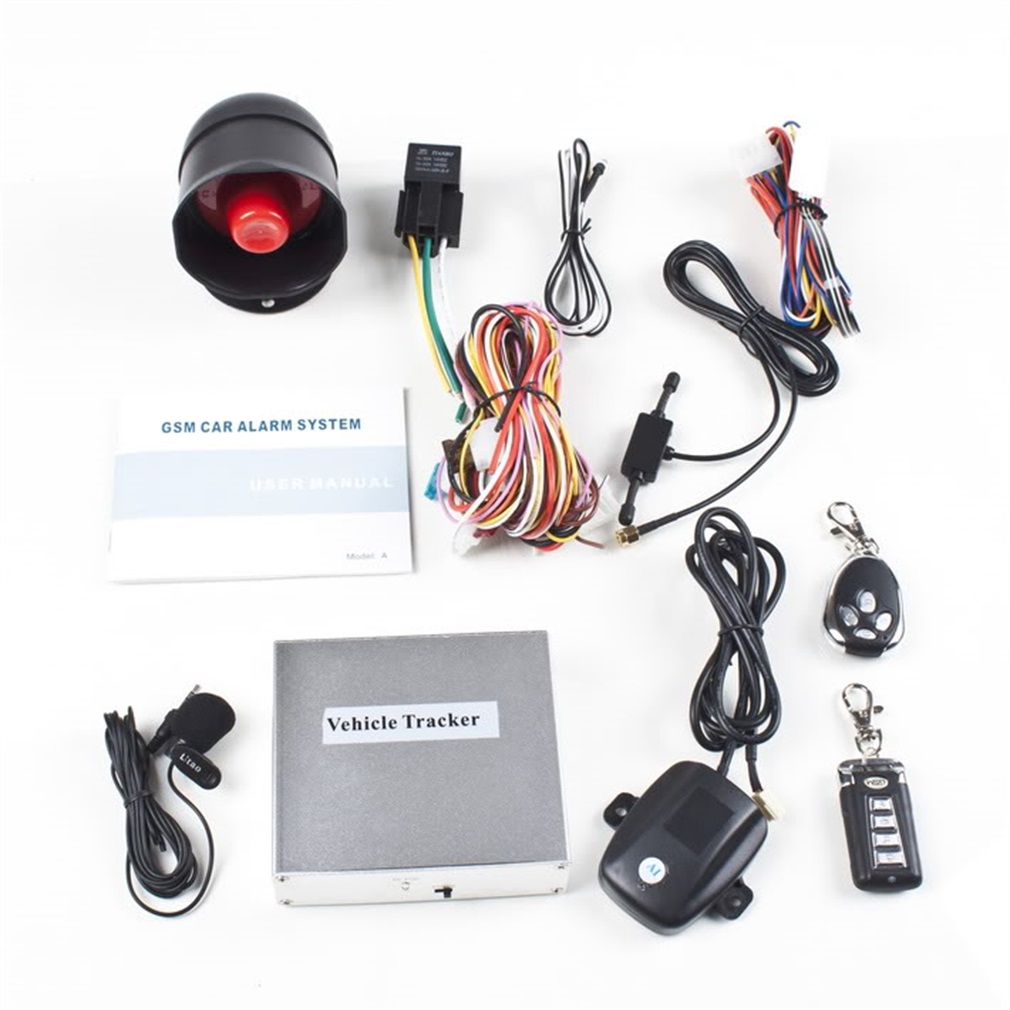 Vehicle Security Car Alarm System With Two 4-Button Transmitters