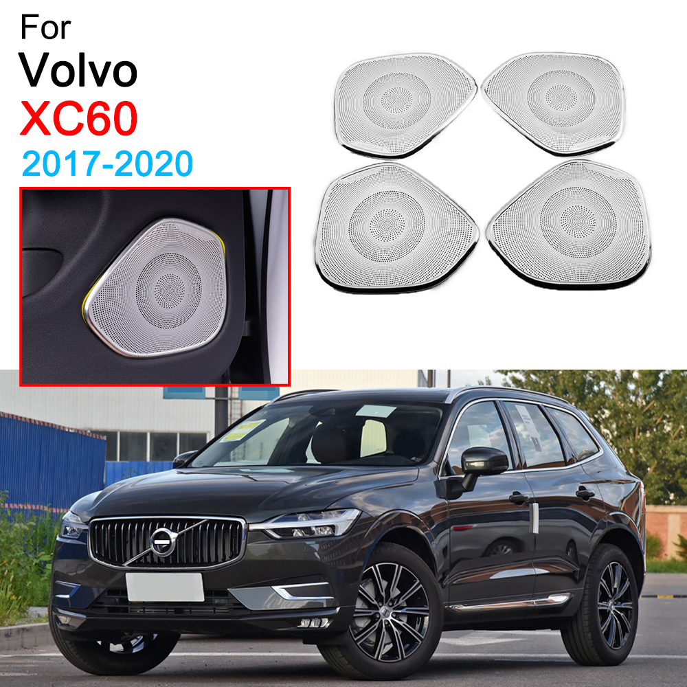 Door Loudspeaker Molding Cover Trim Sound Audio Speaker Cover for <font><b>Volvo</b></font> <font><b>XC60</b></font> Accessories 2017 2018 <font><b>2019</b></font> 2020 image