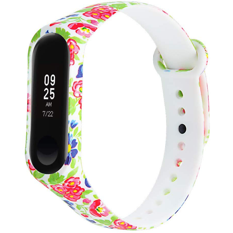 Colorful Xiaomi Mi Band 4 3 Strap Bracelet Replacement For Xiaomi Miband 4  3 Silicone Pulsera Correa Mi 3 Belt Varied Flower