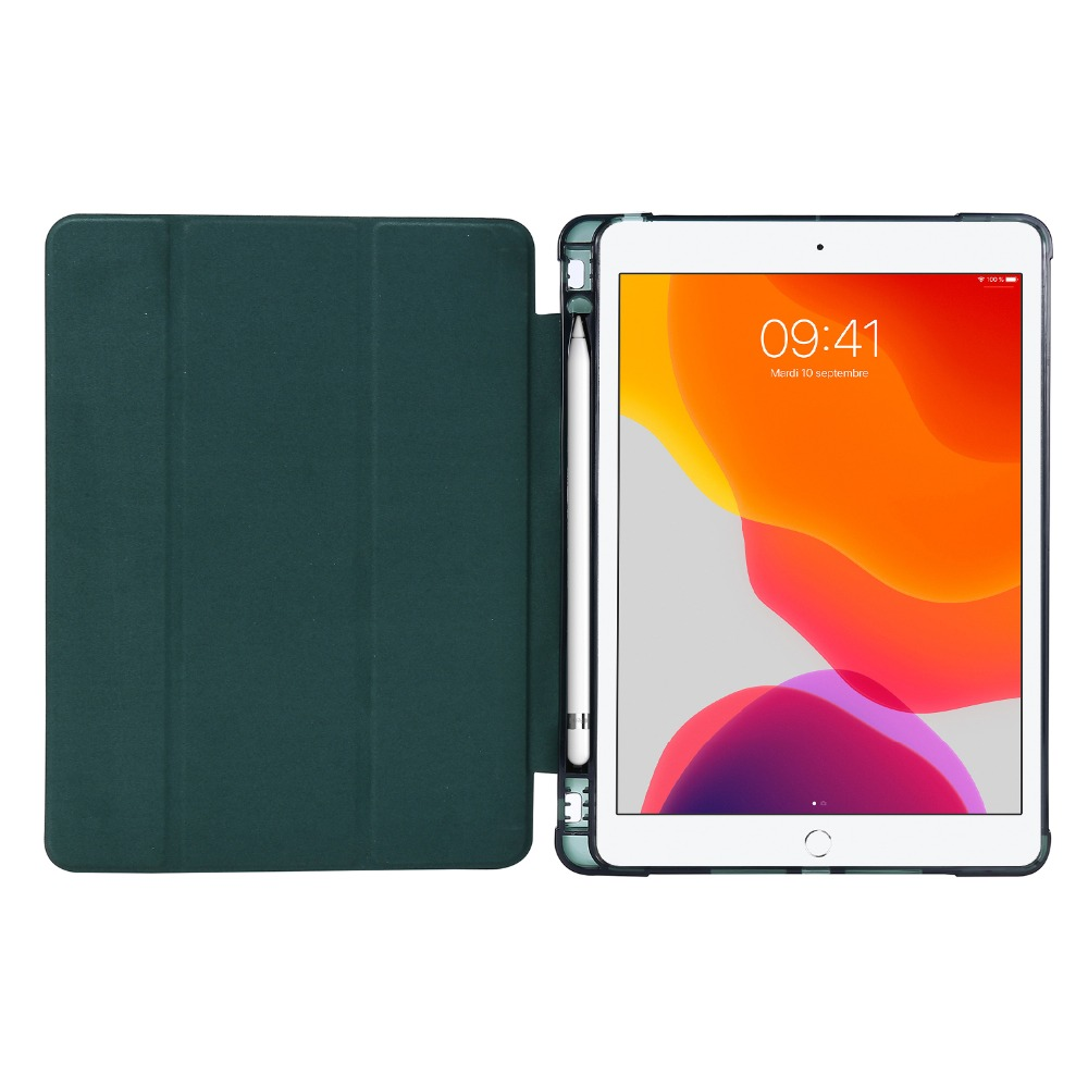 10-2-Case iPad Pencil-Holder with Light-Color for 7th-Generation-Case Folding-Cover Funda