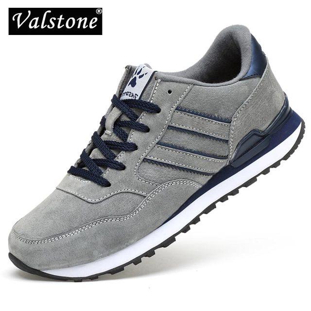Valstone גברים אביב אמיתי עור סניקרס 2020 עמיד למים מוקסין מאמני נגד החלקה נעלי Zapatillas דה דפורטה נוח