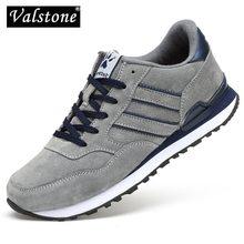 Valstone Zapatillas deportivas de piel auténtica para hombre, calzado deportivo antideslizante, resistente al agua, cómodo, para Primavera, 2020