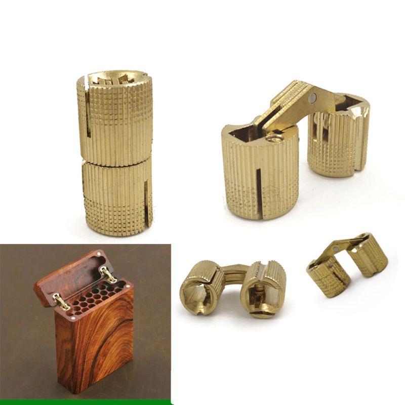 Hidden Invisible Concealed Copper Barrel Hinges Box Cabinet Furniture Hardware