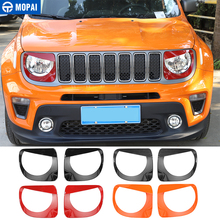 MOPAI Lamp Hoods for Jeep Renegade 2019+ Car Head Light Lamp Decoration Cover Accessories for Jeep Renegade 2019+ kaitlyn rice renegade