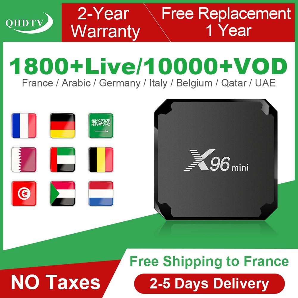 X96 Mini IPTV France Box Android 7.1 IPTV Code QHDTV Box Quad Core X96mini 1 Year IPTV Belgium France Arabic Netherlands IP TV