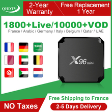 цена на X96 Mini IPTV France Box Android 7.1 IPTV Code QHDTV Subscription X96mini IPTV Belgium France Arabic Netherlands French IP TV