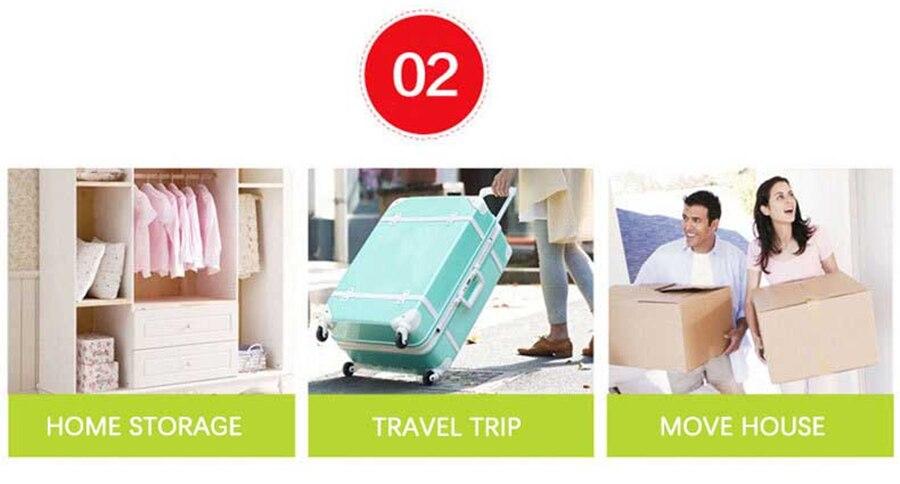 Вакуумный мешок для хранения, Домашний Органайзер, прозрачная окантовка, складной органайзер для одежды, уплотнение, сжатое для экономии места в путешествии, сумки, посылка