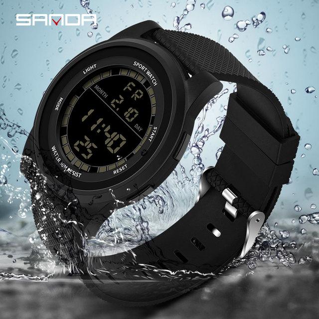 New SANDA Super Slim Digital Watch Men Waterproof 3ATM Men's Watches Ultra Thin Military Sport Watch Relogio Masculino 365