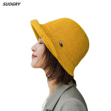 6 colorsways chenille big Bucket Hat cap Women Bob Caps Hip Hop outdoor sports cool Aurtumn Winter ladies Beach sun hat