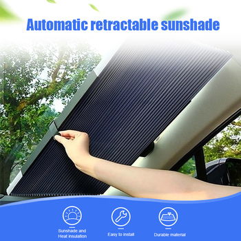 Car Retractable Windshield Anti-UV Car Window Shade Car Front Sun Block Auto Rear Window Foldable Curtain 46/65/70/cm Sunshade 2pcs car window sunshade aluminum shrinkable curtain car side window uv protection 50s l auto rear windshield sun block