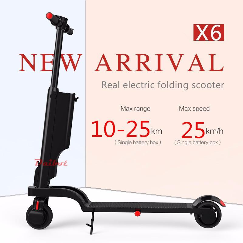 Mini X6 Electric Kick Scooter For Adults Electric Bicycles Two Wheels 5.5 Inch 200W 24V Portable Electric Bike