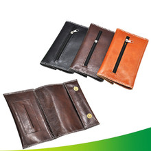 New 1pcs -PU Leather Tobacco Bag Portable Cigarette Rolling Pipe Pouch Case Wallet Tip Paper Holder Smoking Accessories