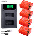 High capacity bateria hero 3 gopro hero3 battery + TYPE-C USB charger+battery case for GoPro go pro Hero 3 3+ camera accessories
