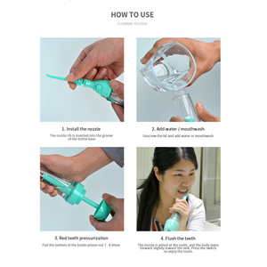 Image 5 - Oral Irrigator Teeth Cleaner Water Jet Tooth Health Water Non electric Oral Irrigator Flossing Flosse