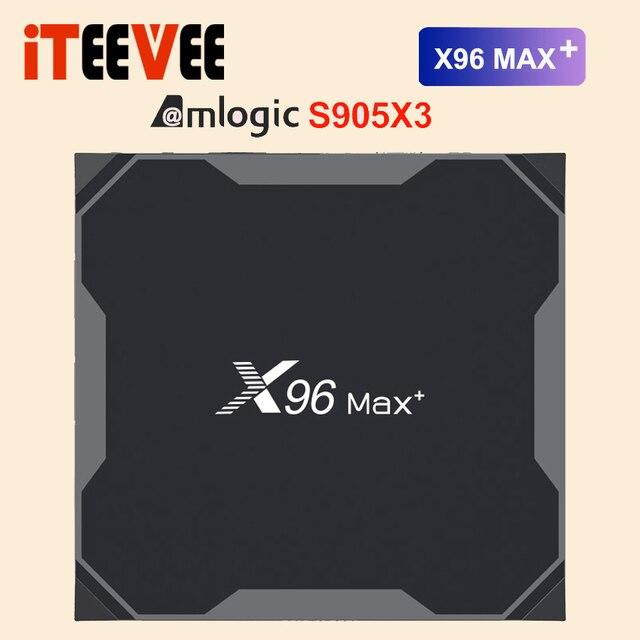 X96 max plus Smart TV Box Android9.0 Amlogic S905X3 Quad Core 4GB 32GB 64GB 2.4G&5.0G WIIF BT4.0 1000M 8K HD Set top box Netflix