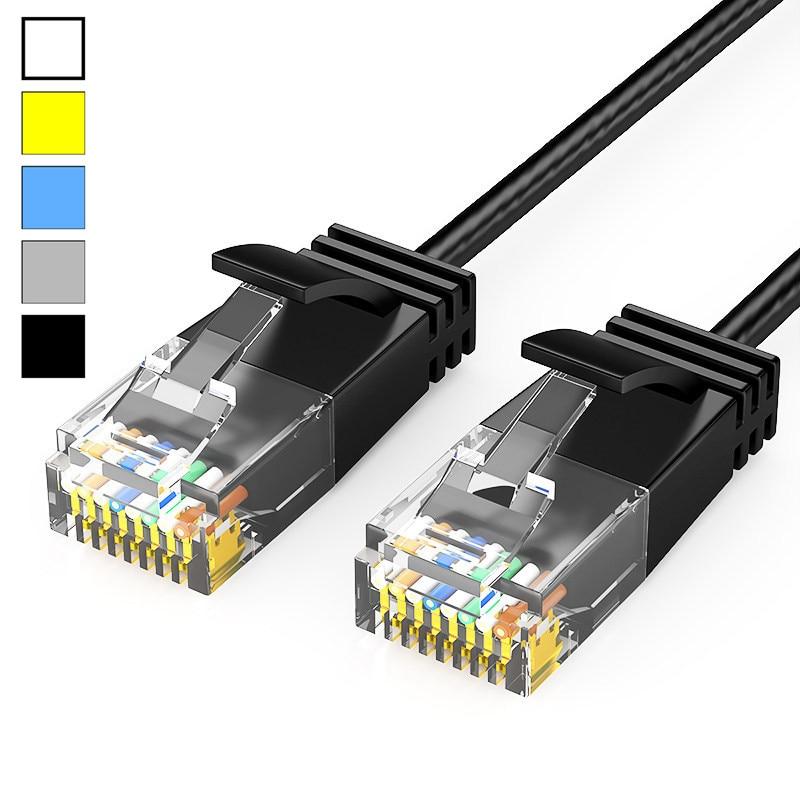 Сетевой кабель Lan CAT 6, тонкий UTP Ethernet-кабель CAT6, сетевой кабель RJ45, соединительный LAN-кабель черного/синего/белого цвета, 25 см, 50 см, 1 м, 2 м, 3 м, 5 м