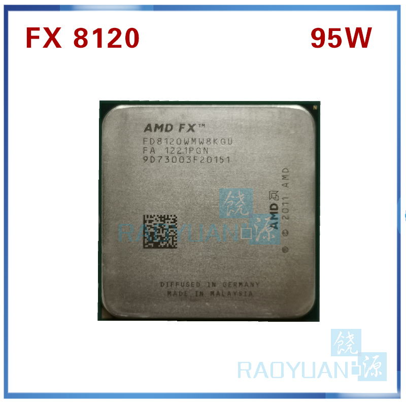 AMD FX-Series FX-8120 FX 8120 3.1 GHz Eight-Core CPU Processor 95W FX8120 FD8120WMW8KGU Socket AM3+