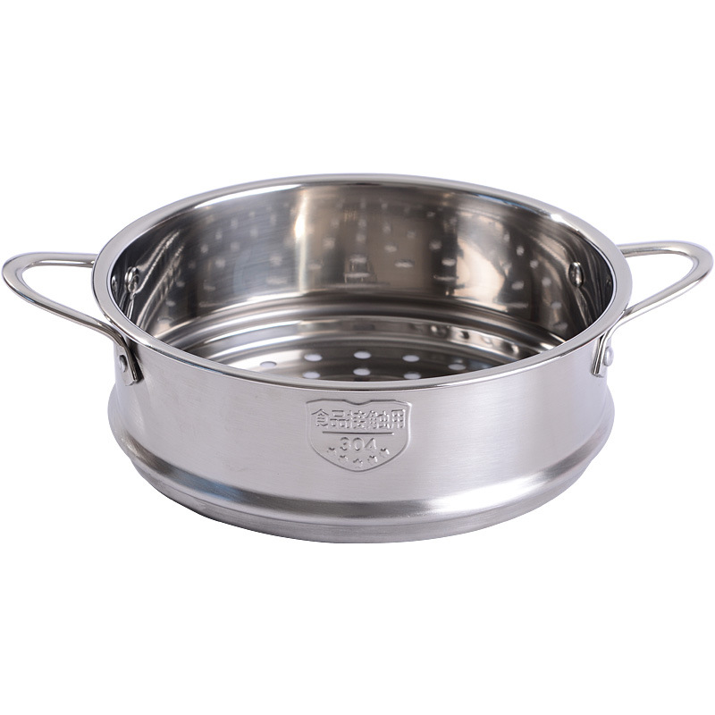 Douyin Baby Food Supplement Pot Steamer 304 Stainless Steel 16cm Milk Pot Small Steamer 18 Cm Steaming Rack Steamed Bread Steame