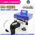 4 Rolls Kompatibel DK-22251 Rot/Schwarz Doppel Farbe Label 62mm * 15,24 M DK-2251 Kontinuierliche Label Kommen Mit kunststoff halter