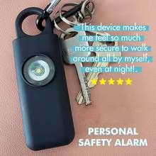 Die Original Selbst Verteidigung Sirene-Tragbare Sicherheit Alarm für Frauen w/SOS LED Licht & Karabiner Hilft Ältesten & kinder Notruf