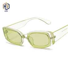 Fashion Candy Colors Rectangle Square Sunglasses Women Clear