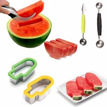 muti function fruit slicer melon watermelon slicer melon cutter practical fruit kitchen tool Watermelon Cutter Slicer Stainless Steel Melon Fruit Cut Vegetable Home Party Kitchen Gadgets Watermelon Knife Corer and Server