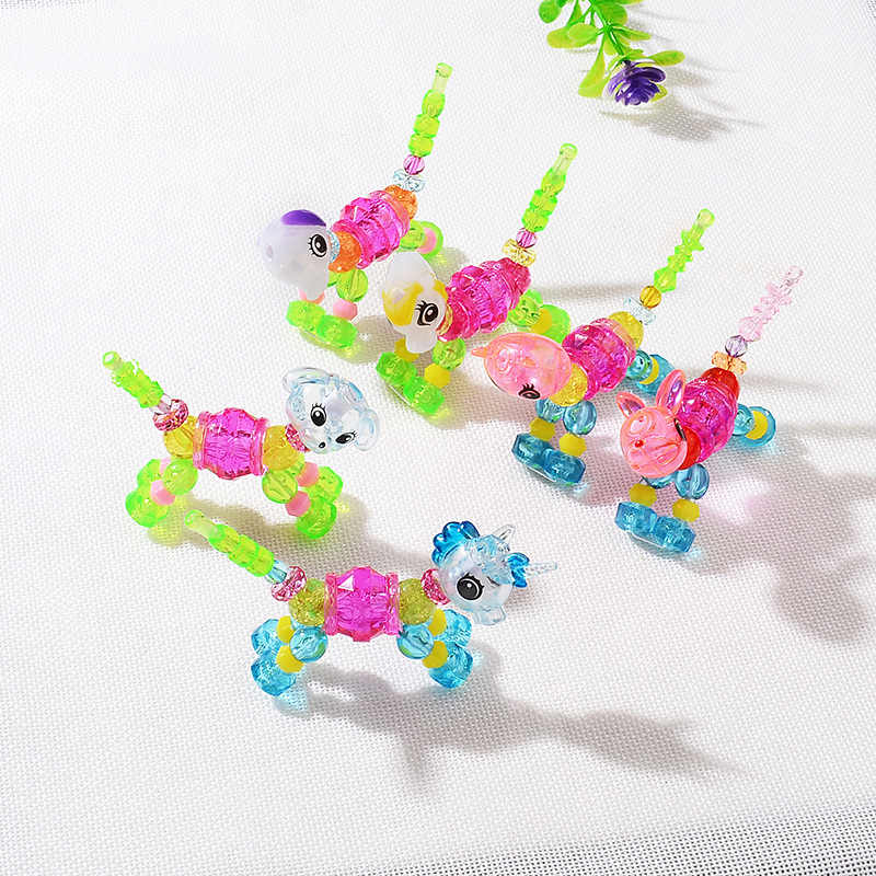 Random Color Creative Geometry Funny DIY Transparent Animal Magic Tricks Sprouting Surprise Girl Magic Bracelet Child Gift