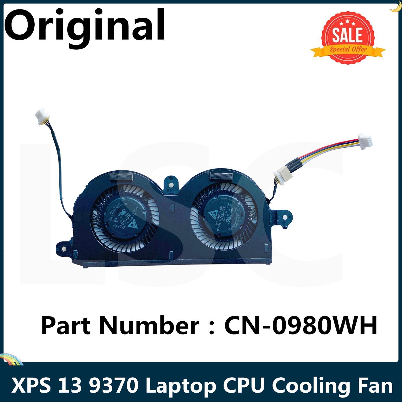 Вентилятор LSC для ЦП ноутбука Dell XPS 13 9370, охлаждающий вентилятор ND55C19 DC05V 0.40A -16M01, 4 штырька, CN-0980WH 0980WH 980WH 100% протестирован