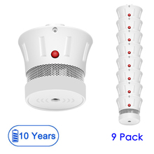 цена на CPVan 9pcs Mini Smoke Sensor Smoke Detector 10 Years Battery EN14604 CE Certification 85dB Fire Alarm Security Sensor Detector