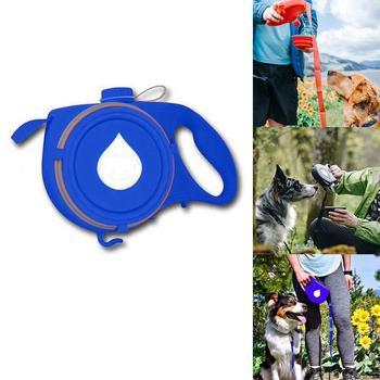 Multifunctional Pet Outdoor Supplies Retractable Leash, Container