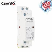 GEYA GYHC Американская классификация проводов 2р 20A 2NO 2NC 1NO1NC бытовой контактор 220V 50/60Hz автоматической Din Rail контактор переменного тока