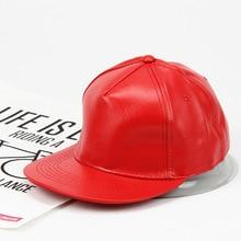 Hip Hop Hat Leather Solid Color Cap Sun Casual Hats Men's And Women's Cool Hat Men's Hip Hop Truck Hat Bone Caps