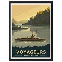 Affiche de voyage Vintage du parc National des Voyageurs, toile, peinture Kraft, autocollant mural enduit, décoration de maison, cadeau