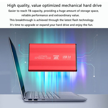 YD5 Hard Drive Case Adapter Aluminum 2.5 inch SATA to USB 3.0 HDD SSD Enclosure for Office Caring Computer Supplies