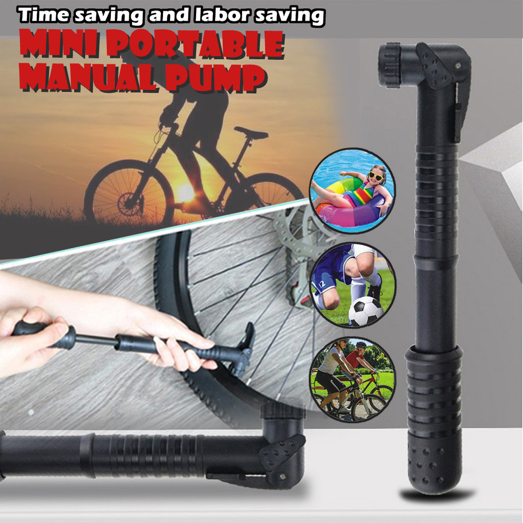 Portable Mini Bicycle Air Pump Bike Tire Inflator MTB Road Bike Cycling Pump US