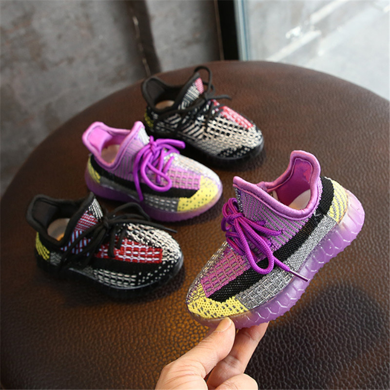 2020 New Spring Kids Shoes Unisex Toddler Girls Boys Sneakers Mesh Breathable Fashion Casual Children Shoes Size 21-30