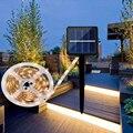DC2V Солнечная Светодиодная лента светильник 3 м 5 м SMD2835 30 светодиодный/м водонепроницаемая гибкая светодиодная лента светодиодный лента RGB л...
